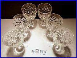 VINTAGE Waterford Crystal COMERAGH (1973-) Set of 6 Water Goblets 7