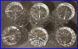 VINTAGE Waterford Crystal KINSALE (1962-) Set of 6 Old Fashioneds 3 1/2