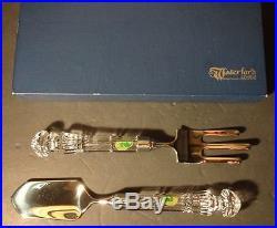 VINTAGE Waterford Crystal LISMORE (1957-) Garden Tools Fork & Trowel Set 10