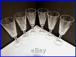 VINTAGE Waterford Crystal LISMORE (1957-) Set of 6 Champagne Flutes 7 1/4 B