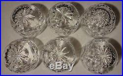 VINTAGE Waterford Crystal LISMORE (1957-) Set of 6 Finger Bowls 3 7/8 in BOX