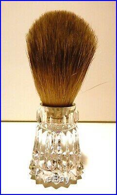 VINTAGE Waterford Crystal WT01 Shaving Brush / Razor / Tray Set IRELAND