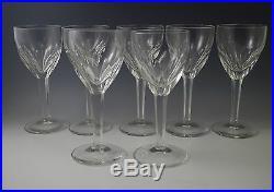 Val St. Lambert Crystal Elegance Tcpl Set Of 7 Claret Wine Goblets, 6.5/8