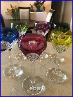 Val st lambert wine glasses Set Of 6 Circa 1950s