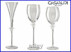 Versace Rosenthal Medusa Lumiere Glassware Set 6 Pcs Crystal
