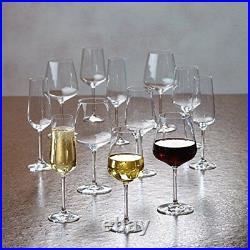 Villeroy & Boch Glassware 12 Piece Set Ovid Champagne, White, Red Wine Glass