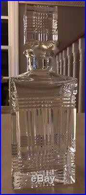 Vintage Ralph Lauren Crystal Glen Plaid Decanter 4 Highball Gl Set