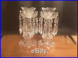 Vintage Set Of 1980's Waterford Crystal 10'' C1 Candelabras. Stunning