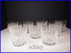 Vintage Signed WATERFORD Irish Crystal LISMORE Old Fashioned Earlier Mark SET/9