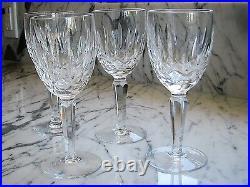 Vintage WATERFORD Crystal Kildare Claret Wine Glass stemware set of 4 Ireland