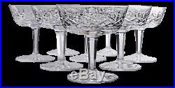Vintage Waterford Crystal Lismore Coupe Champagne/Tall Sherbet Glasses -Set of 8