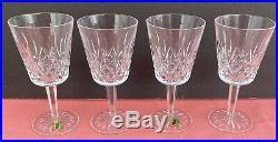 Vintage Waterford Crystal Lismore Water/Wine Glasses-6 7/8 H Set Of 4 NOS