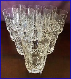 Vintage Waterford Crystal Lismore pattern 4 1/2 Tumbler set of 12 holds 10 oz