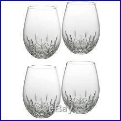 Waterford #136879 Lismore Nouveau Stemless Deep Red Wine Set Of 4 Bnib Crystal