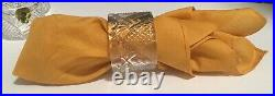 WATERFORD COMPLETE Set Of 12 RARE SEAHORSE NAPKIN RINGS, HEavy