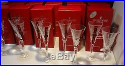 WATERFORD CRYSTAL 12 DAYS of CHRISTMAS TOASTING FLUTES COMPLETE SET 1-12