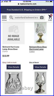 WATERFORD CRYSTAL AND BRASS BELMONT CANDLEHOLDERS Set/2