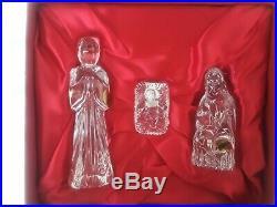 WATERFORD CRYSTAL IRELAND 13 Piece Nativity Set WithOriginal Boxes NVR Displayed