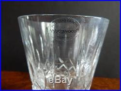 WATERFORD CRYSTAL LISMORE DOF Boxed Set of Four (4) WHISKEY / ROCKS GLASSES