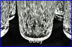 WATERFORD CRYSTAL Lismore 5 Water Glass (never used) vintage Set of 4