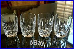 WATERFORD Crystal KILDARE 12oz Double Old Fashioned Whiskey Tumblers Set of 4