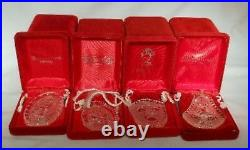 WATERFORD crystal ornament 18 Piece set 12 Day of Christmas 1978 1995 in BOXES