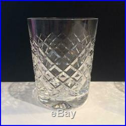 Waterford Alana Crystal Set Of 4 Double Old Fashioned Glasses 4 3/8 Cr1674