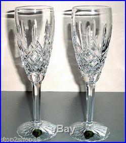 Waterford Araglin Champagne Flutes SET/2 Crystal 5-oz. #6123940400 NEW