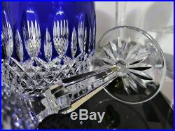 Waterford Clarendon Cobalt Wine, Cordials, Schampagne, Whiskey glasses set of 8