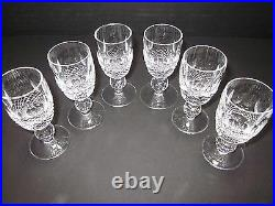 Waterford Colleen Crystal Cordial Glass Set of Six height 3 1/4 in