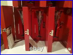 Waterford Crystal 12 Days of Christmas Champagne Flutes Full Set with Boxes