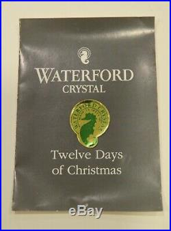 Waterford Crystal 12 Days of Christmas Ornaments Complete Set of 12 1982-95 E+