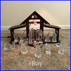 Waterford Crystal 18 pc. Nativity Set