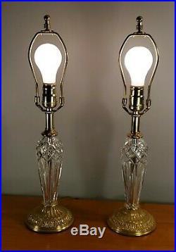Waterford Crystal Belline Honey Brass Lamp Set Of 2