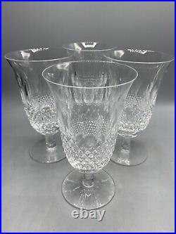 Waterford Crystal Colleen Stemmed Iced Tea Glass 6 1/2 Signed 12 oz Set of 4