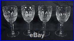 Waterford Crystal Colleen Tall Stem Water Goblet Glass Set Of 4 Signed