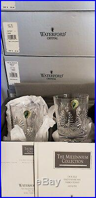 Waterford Crystal Double Old Fashioned The Millennium set unused in box perfect