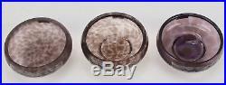 Waterford Crystal Evolution Set of 3 Urban Safari Small Bowls NIB Retails $125