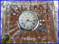 Waterford Crystal Executive Desk Set Pens, Clock, In Original Box