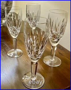 Waterford Crystal Kildare Champagne Set of 4 glasses, rarely used, withwater mark