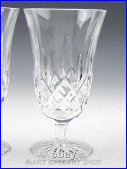Waterford Crystal LISMORE 6.5 FOOTED ICED TEA BEVERAGE GLASSES Set 2 Excellent