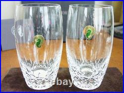 Waterford Crystal LISMORE ESSENCE Hiball Highball Glasses Set / 2 NEW IN BOX