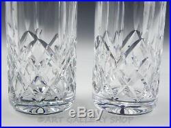 Waterford Crystal LISMORE HIGHBALL TOM COLLINS TALL DRINK ICE TEA GLASSES Set 2