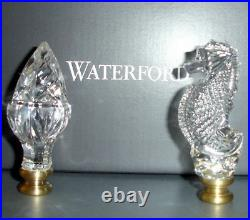 Waterford Crystal Lamp Finial Set 40032254 Acorn And Seahorse Nib