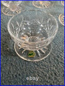 Waterford Crystal Lismore 4 Footed Dessert Bowls Seahorse Mark Set of 8