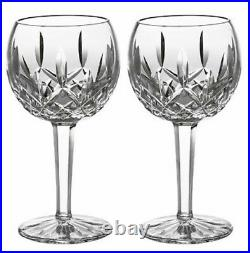 Waterford Crystal Lismore Balloon Wine Set of 2 Glasses #156516 New In Box