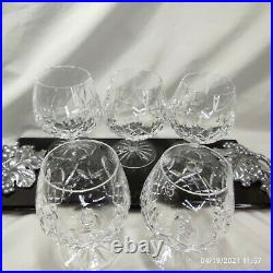 Waterford Crystal Lismore Brandy Snifter Glass 5 1/4t Set Of 5 Excellent