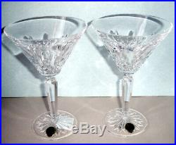 Waterford Crystal Lismore Cocktail Martini Glasses Set of 2 #156474 New In Box