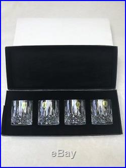 Waterford Crystal Lismore Connoisseur Whiskey Straight Sided Tumblers (Set of 4)