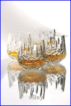 Waterford Crystal Lismore DOF Glasses (Set of 4) NEW 136673 ROLY POLY RARE